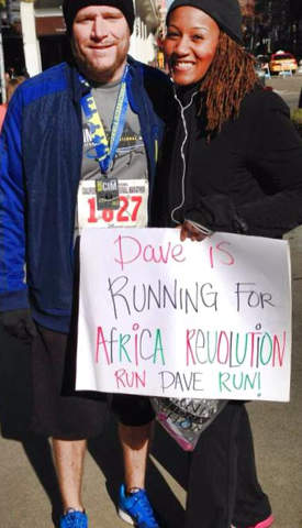 Dave Clark running a marathon to raise awareness and funds for Africa Revolution!