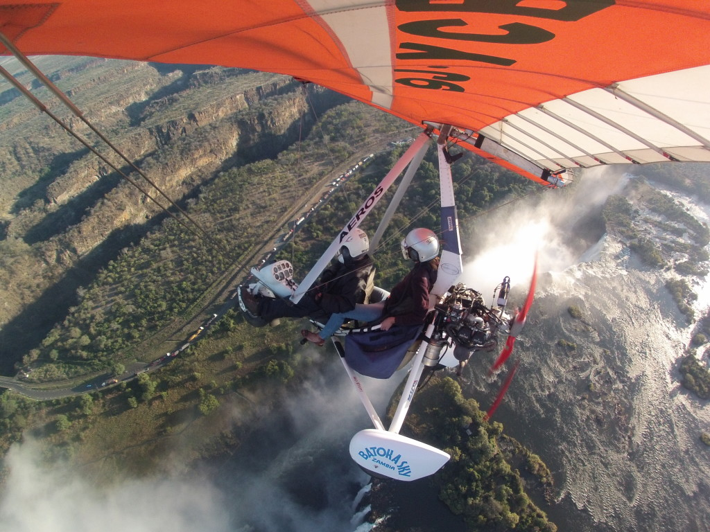 My dream of hang gliding come true! 1,700 feet over Victoria Falls <3